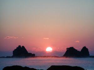 田原-森戸崎の海霧|弘法湯温泉|串本町 和歌山県