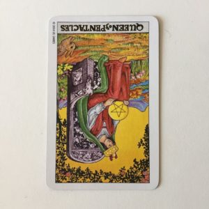 QUEEN of PENTACLES (R)