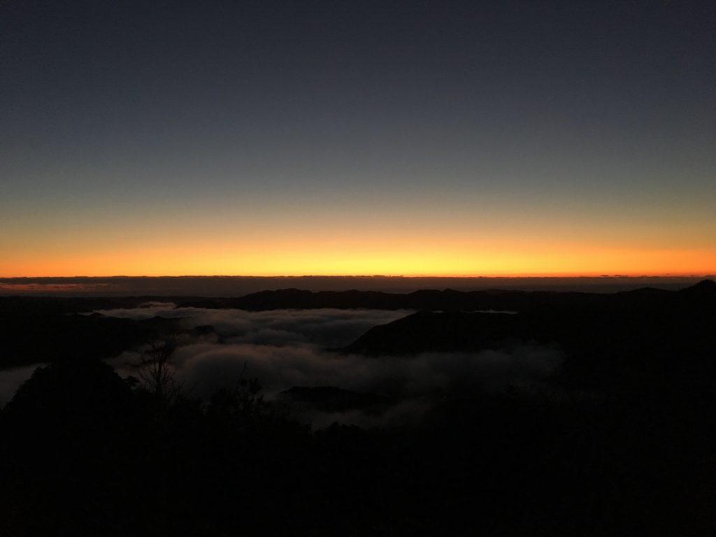 新年の嶽ノ森山@初日の出